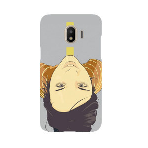 Cute Girl Looking - Mobile Cover