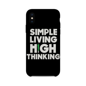 Simple Living High Thinking – Mobile Cover