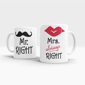 Mr. Right & Mrs. Always Right Mug