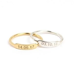 Engraved Date Ring