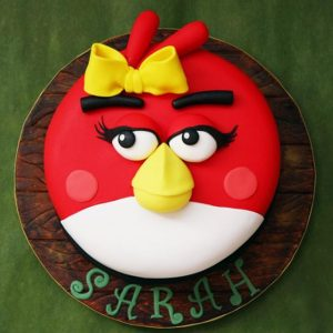 Angry Bird Theme Birthday Cake