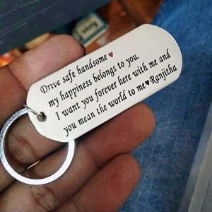 Customized Metal Message Keychain
