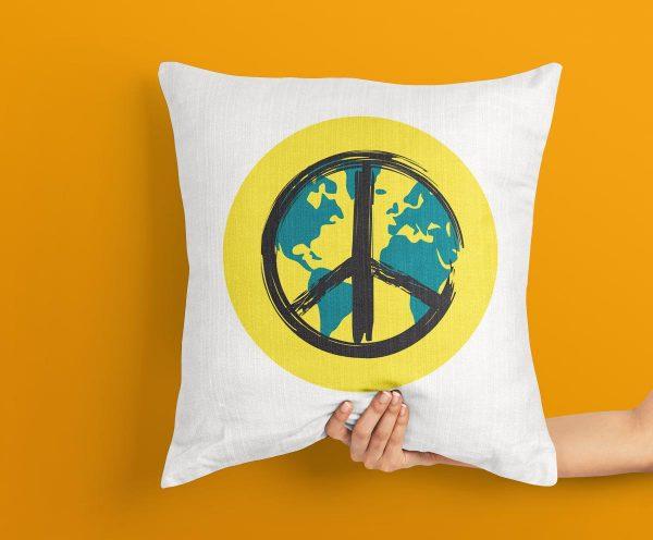 World Peace Logo Cushion, World Peace Symbol Cushion